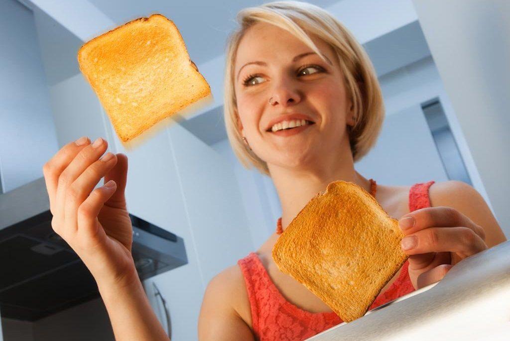 Результат работы тостера