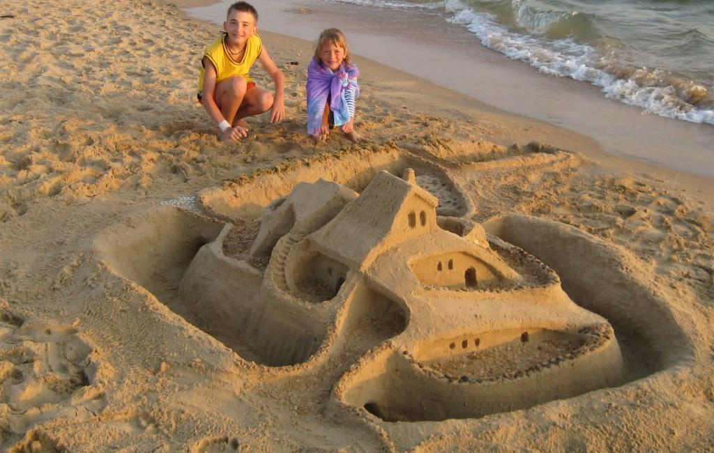 Песок фото замка из песка