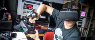Шлем Oculus виртуальной реальности