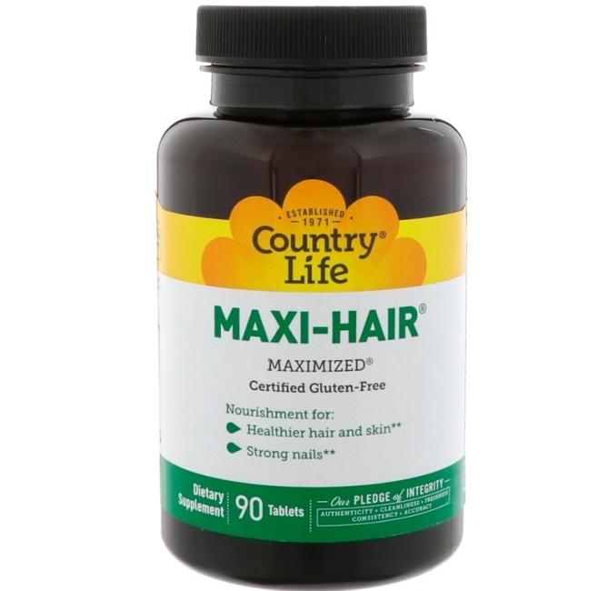 Country Life Maxi-Hair Plus Maximized витаминный комплекс для волос 90 таблеток фото