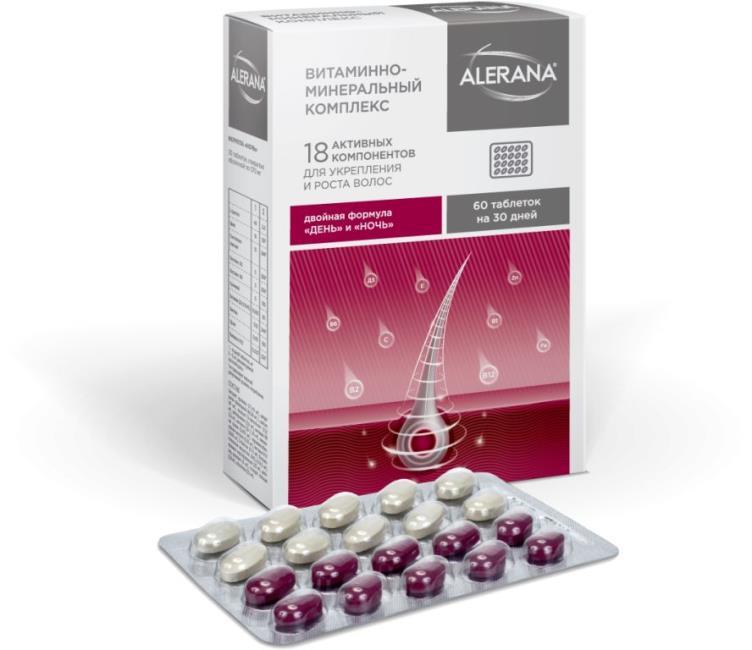 Alerana–Комплекс для волос витаминно-минеральный, 60 шт фото