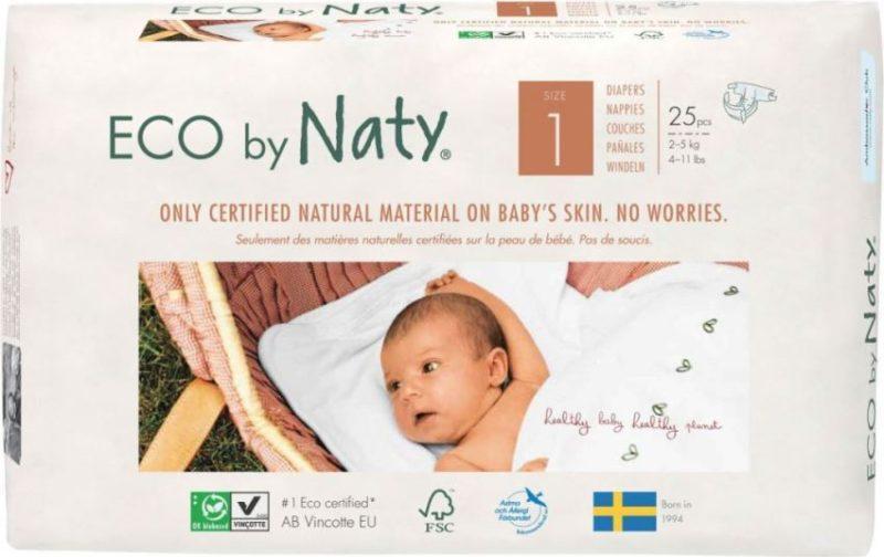 Naty подгузники 1 (2-5 кг) 25 шт