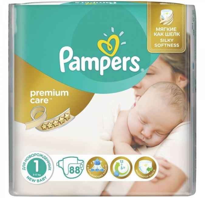 Pampers подгузники Premium Care 1 (2-5 кг) 88