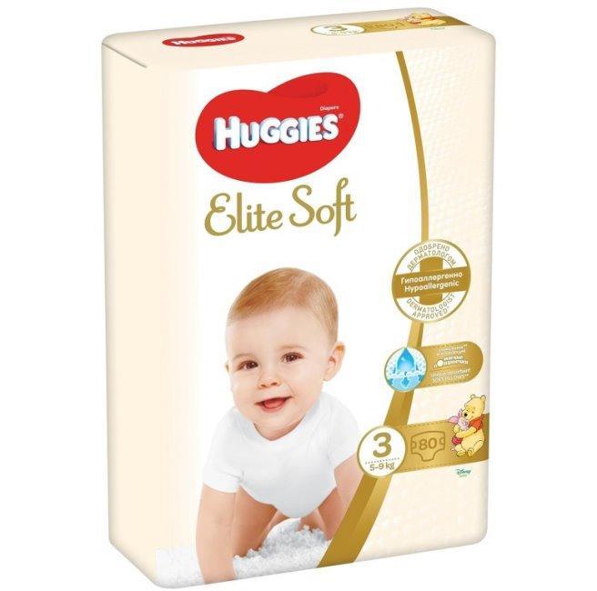 Huggies подгузники Elite Soft 3 (5-9 кг) 90 шт.