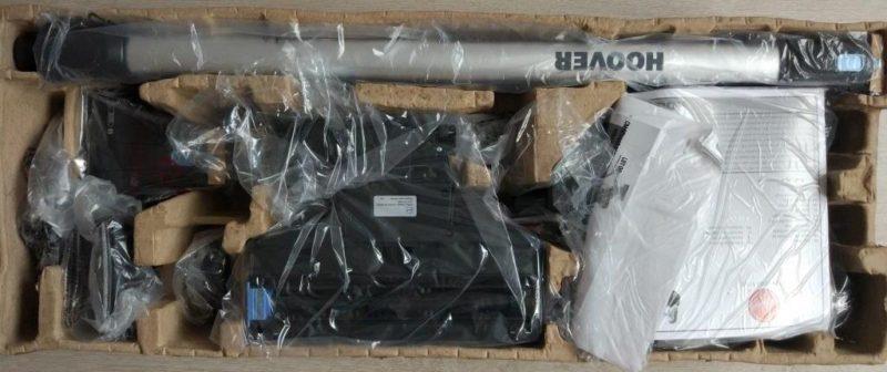 Комплект поставки и пример упаковки пылесоса