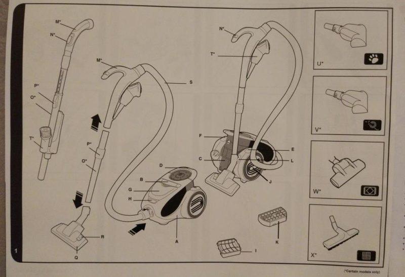 Hoover Xarion PRO-инструкция