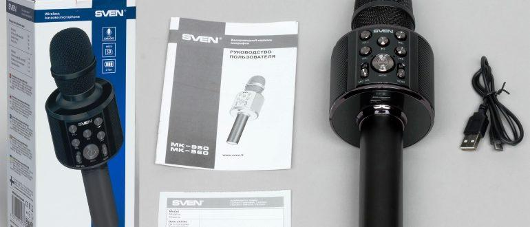 Обзор караоке микрофона sven MK-960