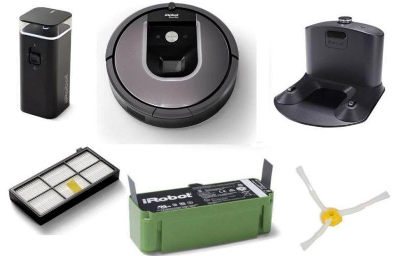 с iRobot Roomba 960 идут следующие детали