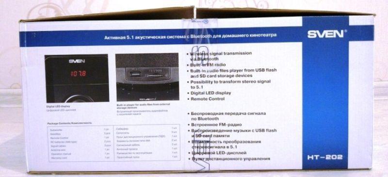 Описание акустической системы Sven HT-402