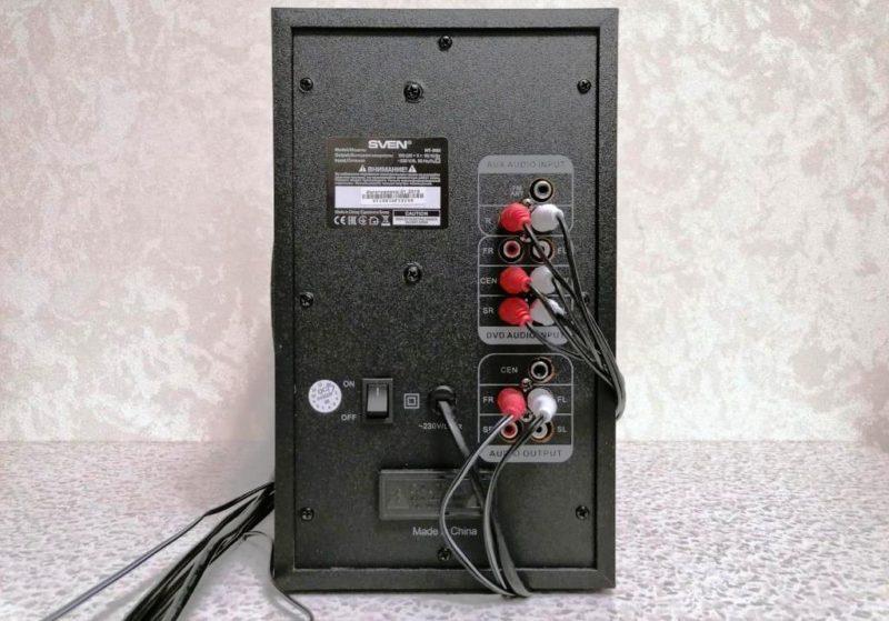 Подключение акустики Sven HT-202