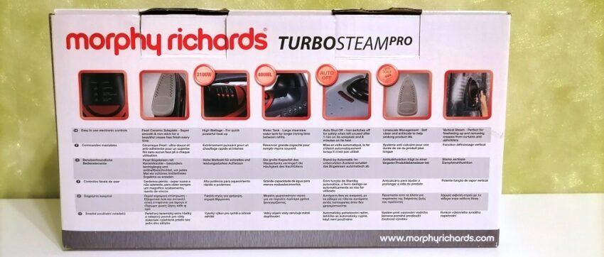 Технические характеристики Morphy Richards Turbosteam Pro Electronic 303125