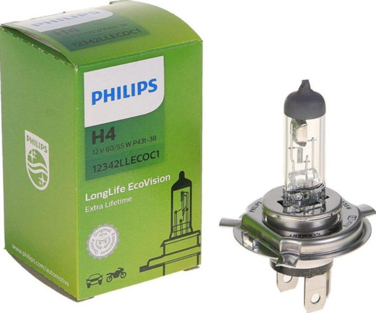 Philips LongLife EcoVision H4 фото