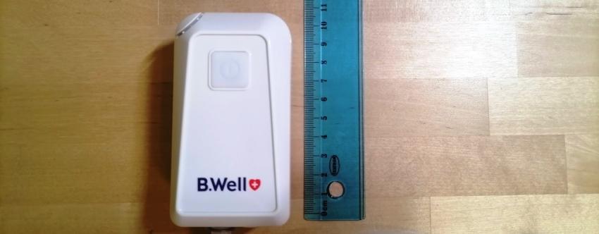 B.Well MED-120 и линейка - 9,5 см