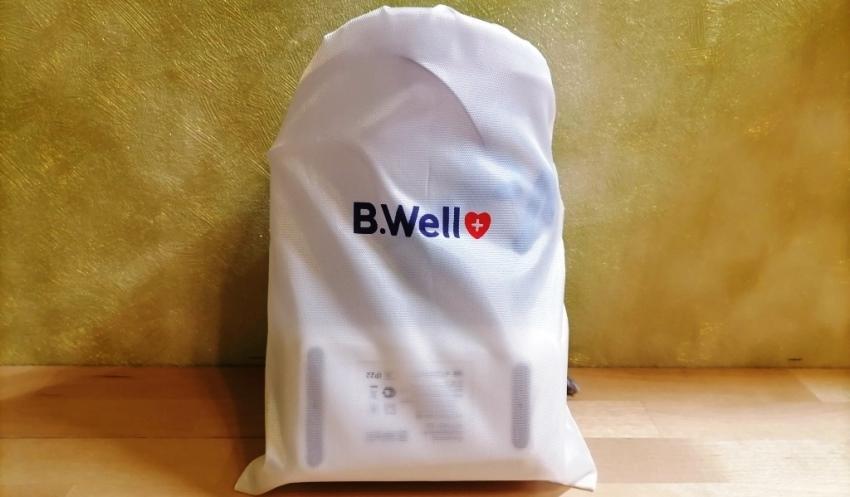 Прибор убран в транспортировочный мешок B.Well MED-120
