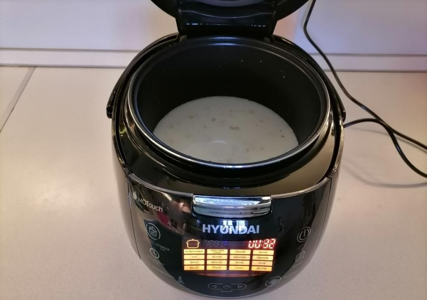 Молочная каша в мультиварке Hyundai HYMC-1611