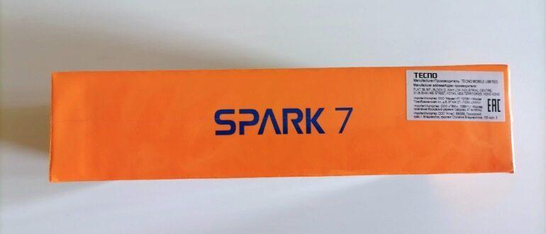 Tecno Spark 7 фото