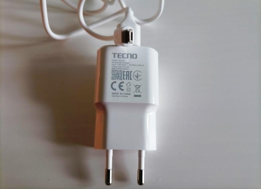 Технические характеристики зарядки
