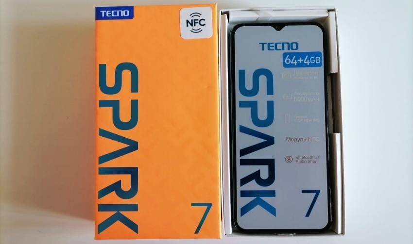 Распаковка смартфона Tecno Spark 7