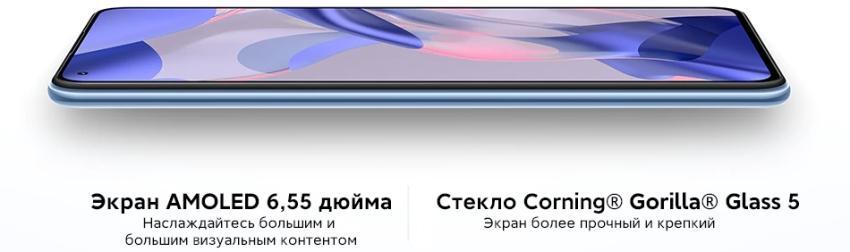 Характеристики экрана Mi 11 Lite Ne