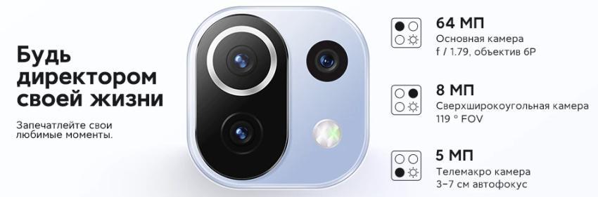 Блок камеры Mi 11 Lite Ne