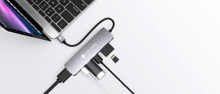 NOVOO 6 in 1 USB Hub фото